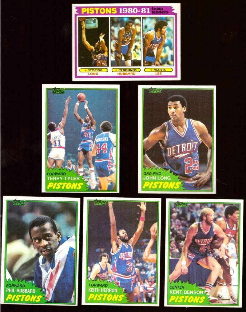 1981-82 Topps Basketball Team Set (EX Conditon) - Detroit Pistons