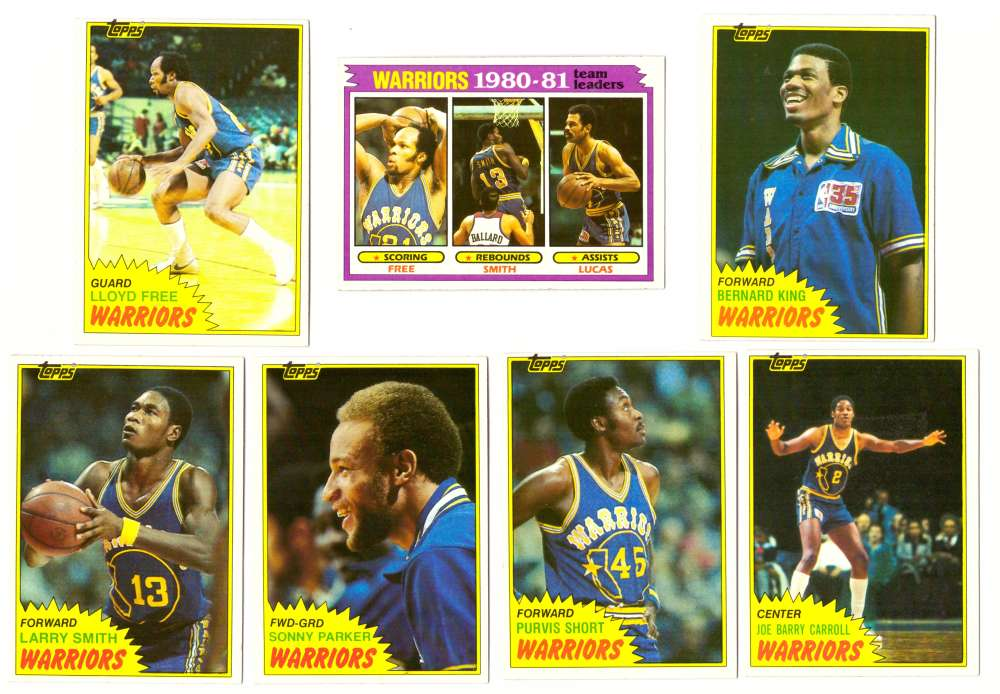 1981-82 Topps Basketball Team Set (EX+ Conditon) - Golden State Warriors