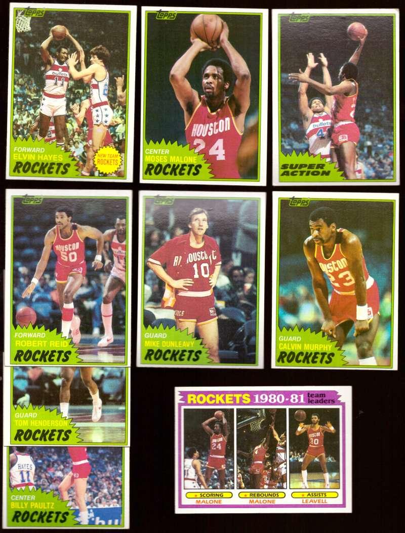 1981-82 Topps Basketball Team Set (EX+ Conditon) - Houston Rockets