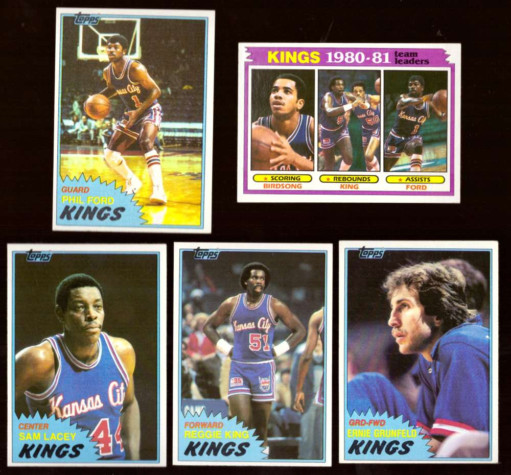 1981-82 Topps Basketball Team Set (EX Conditon) - Kansas City Kings