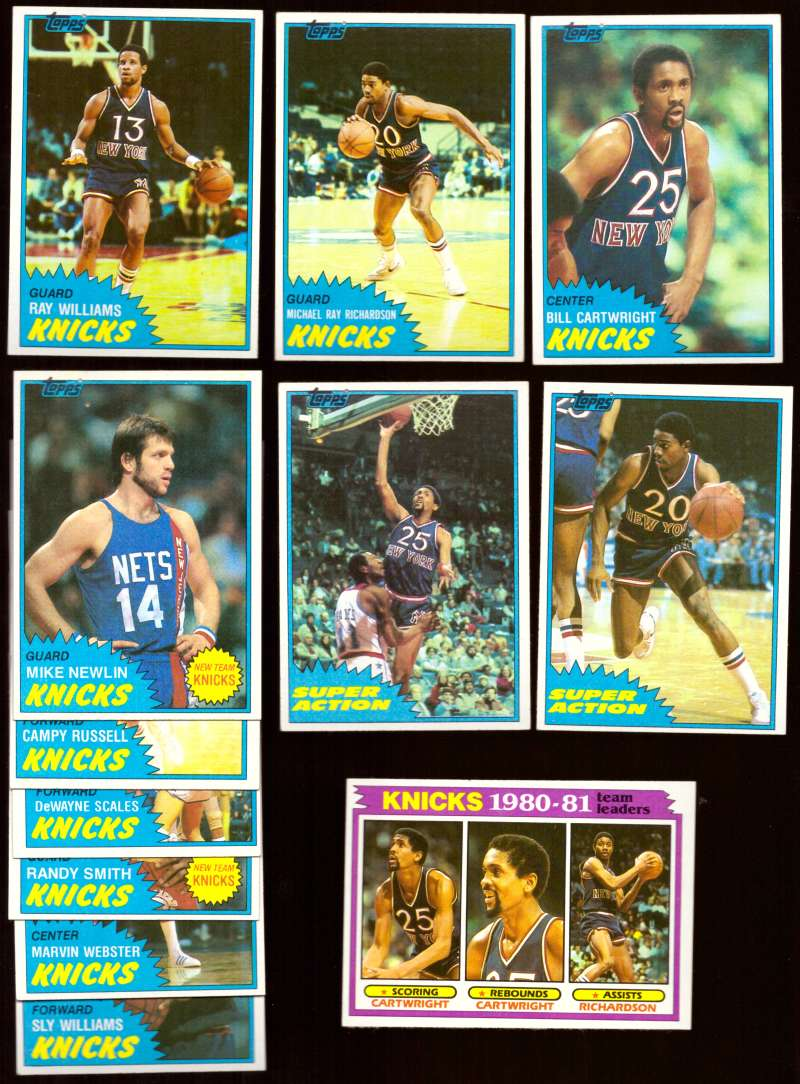 1981-82 Topps Basketball Team Set (EX Conditon) - New York Knicks
