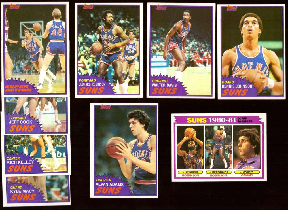 1981-82 Topps Basketball Team Set (EX Conditon) - Phoenix Suns
