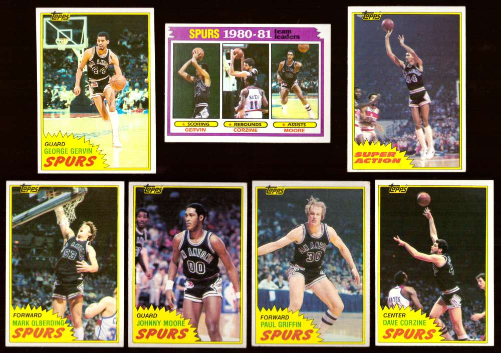 1981-82 Topps Basketball Team Set (EX Conditon) - San Antonio Spurs