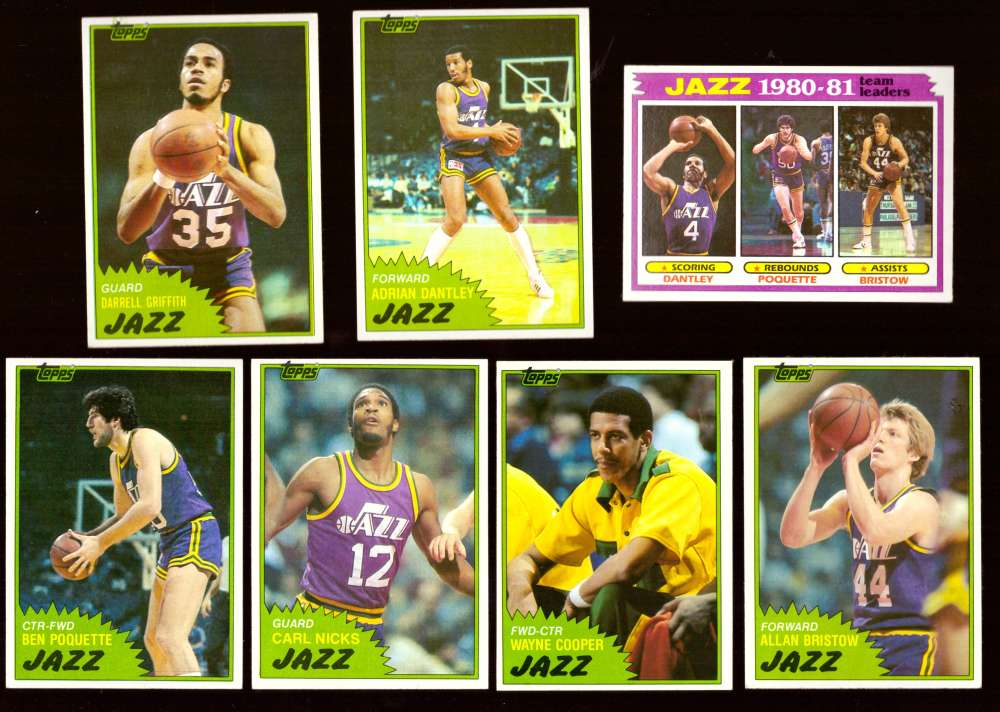 1981-82 Topps Basketball Team Set (EX Conditon) - Utah Jazz