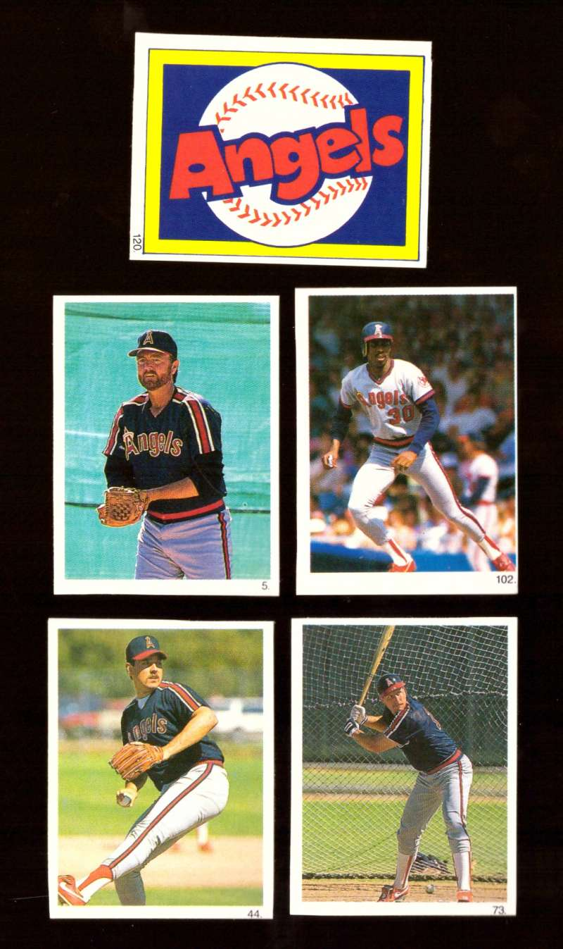 1990 Red Foley Stickers - CALIFORNIA ANGELS Team set