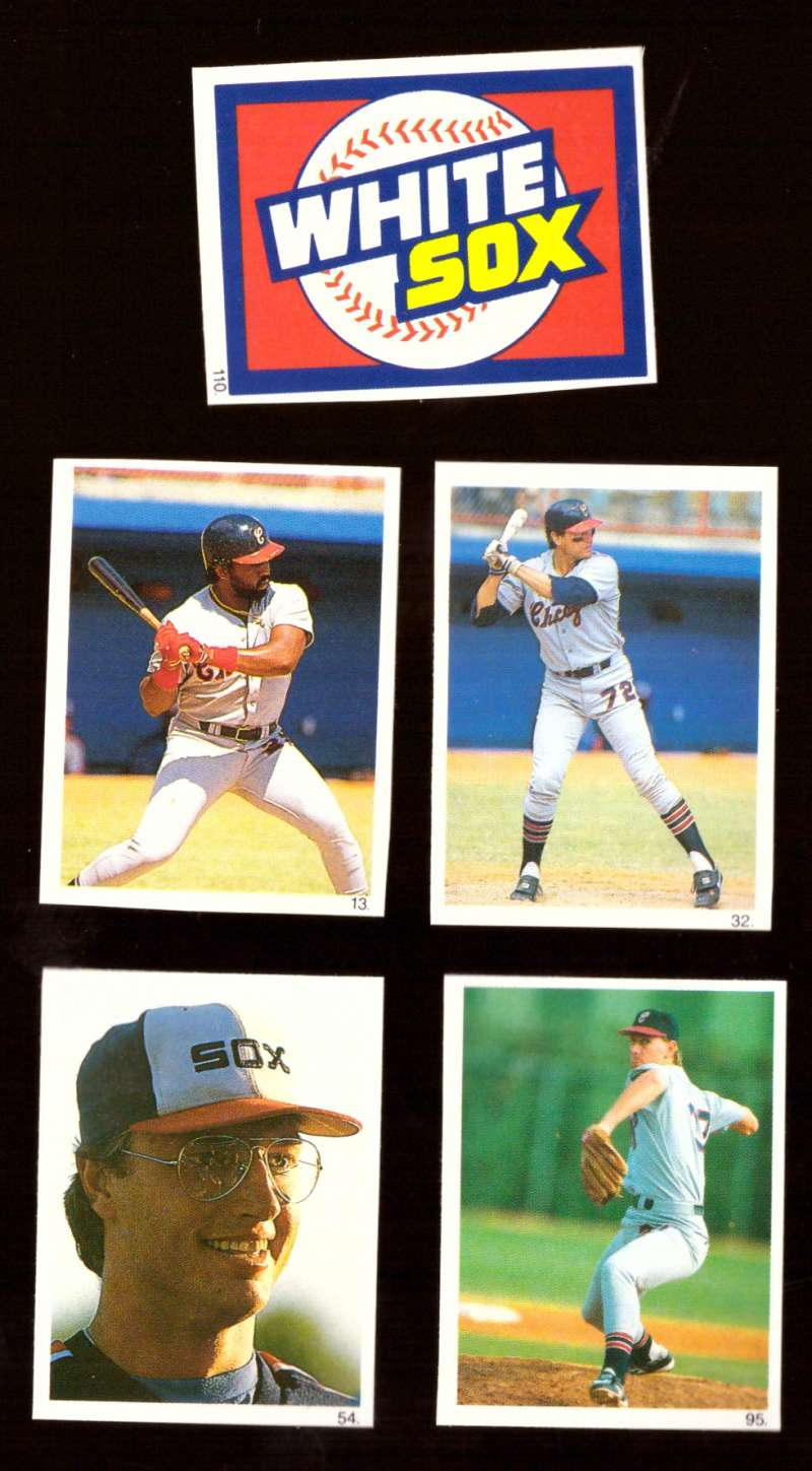 1990 Red Foley Stickers - CHICAGO WHITE SOX Team Set