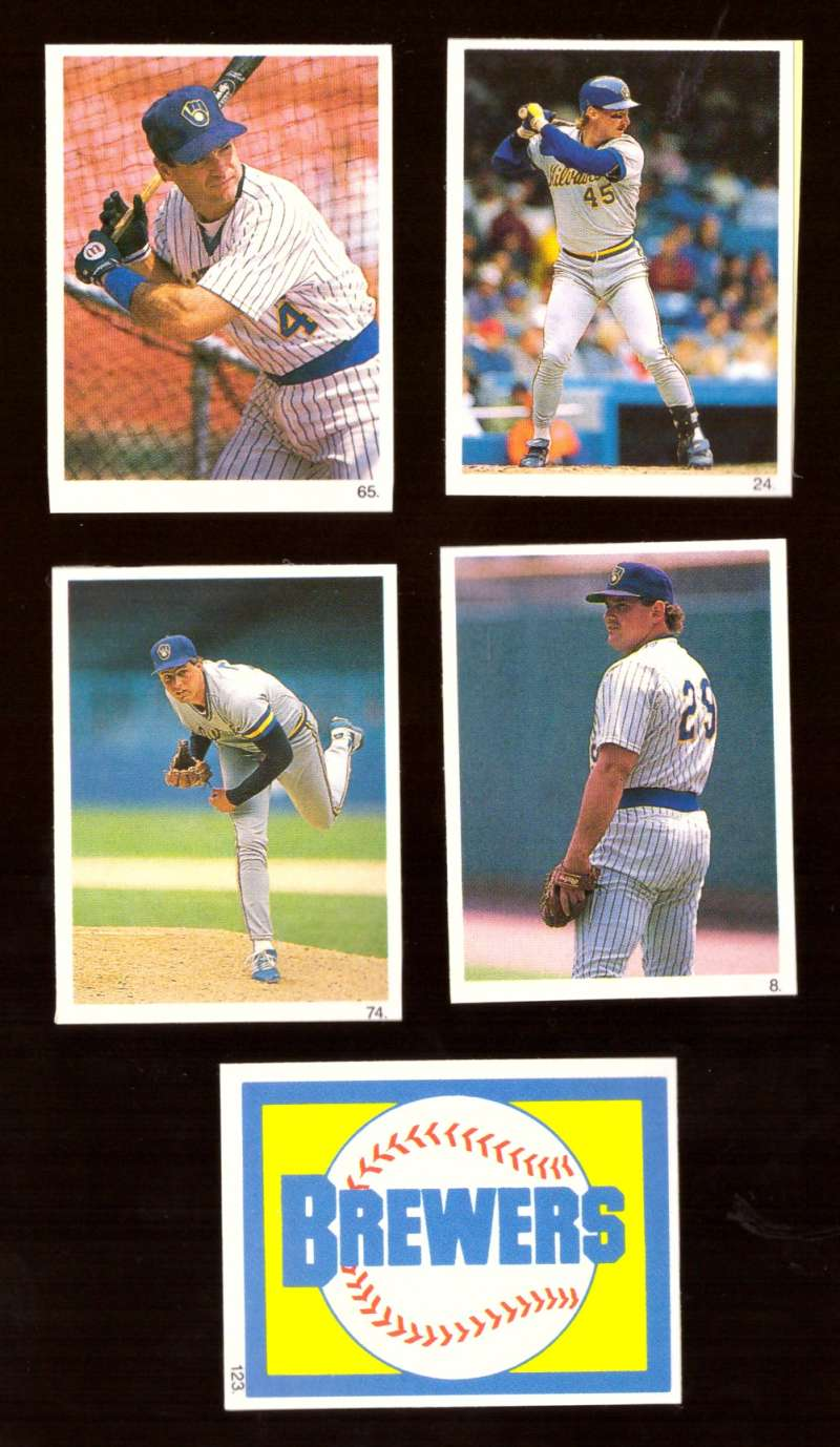 1990 Red Foley Stickers - MILWAUKEE BREWERS Team Set