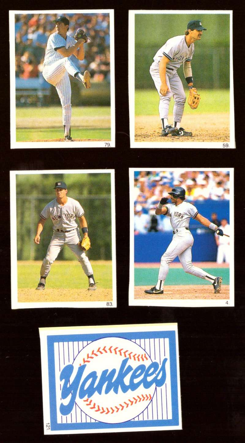 1990 Red Foley Stickers - NEW YORK YANKEES Team Set