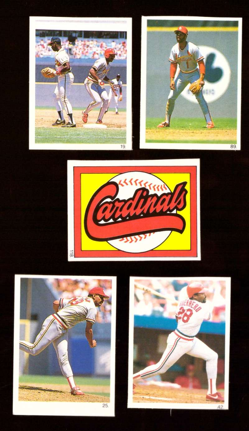 1990 Red Foley Stickers - ST LOUIS CARDINALS Team Set