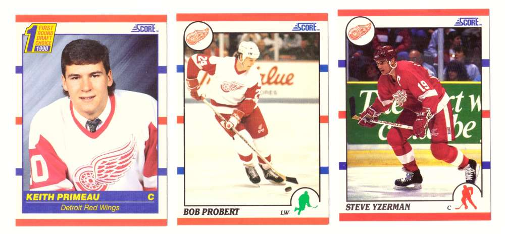 1990-91 Score Hockey Team Set - Detroit Red Wings