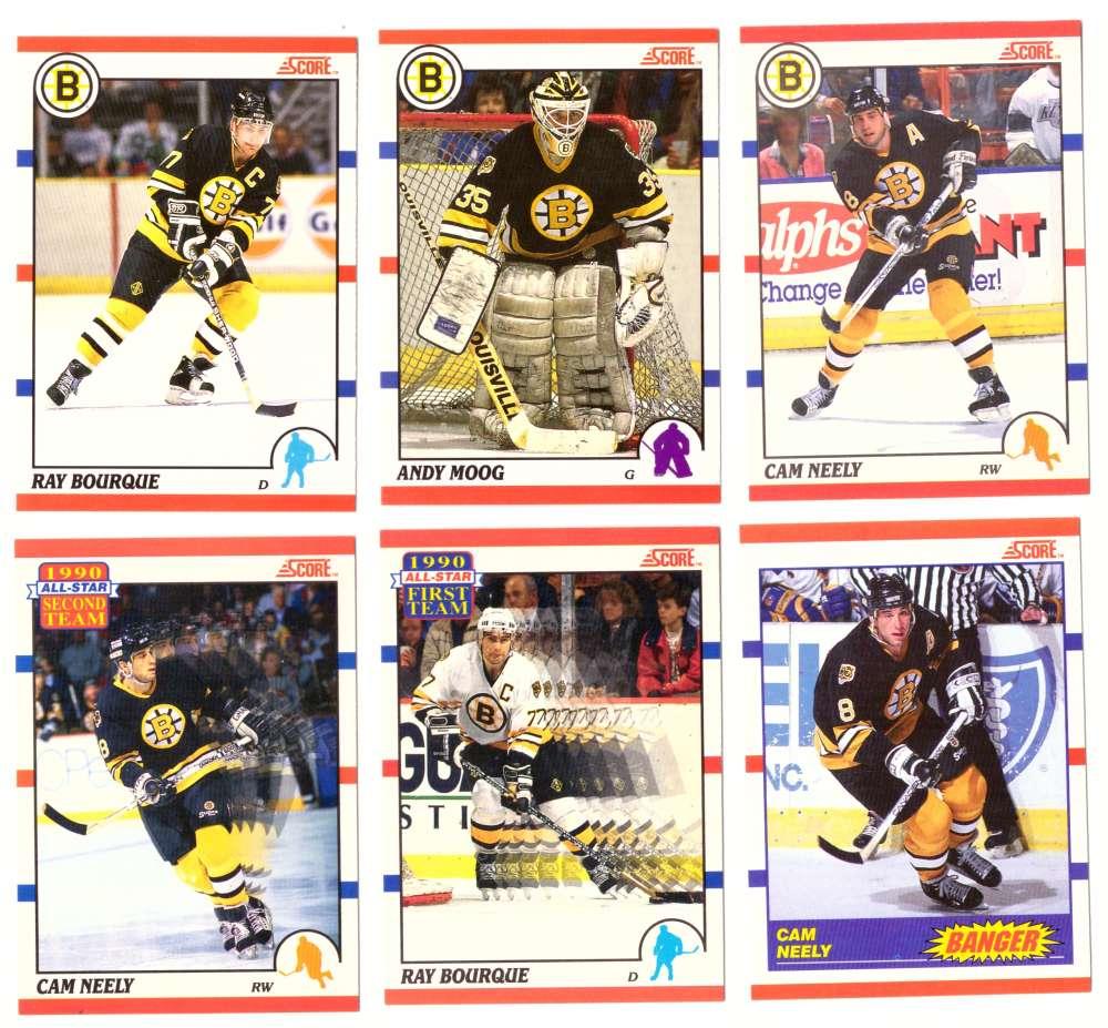 1990-91 Score Canadian Hockey Team Set - Boston Bruins