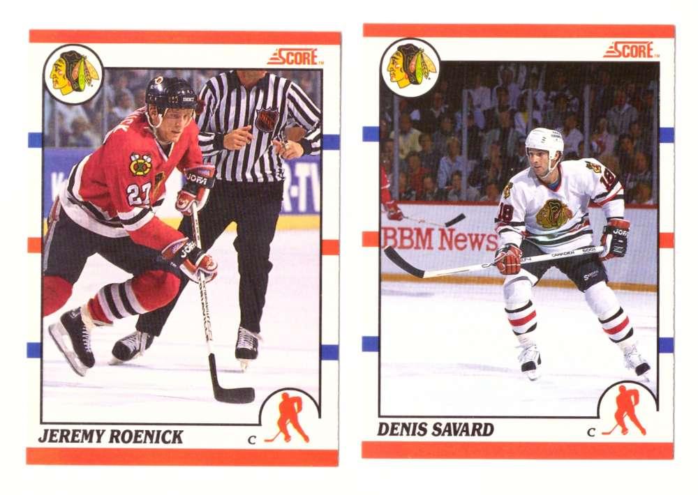 1990-91 Score Canadian Hockey Team Set - Chicago Blackhawks