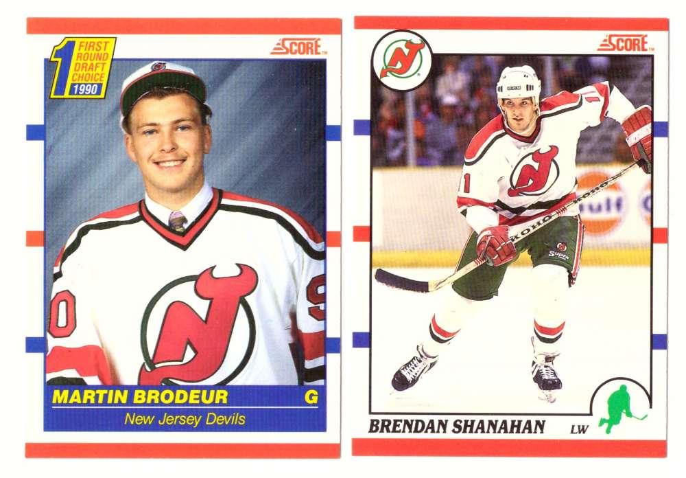 1990-91 Score Canadian Hockey Team Set - New Jersey Devils