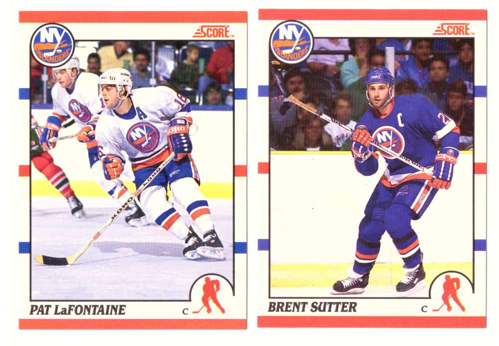 1990-91 Score Canadian Hockey Team Set - New York Islanders