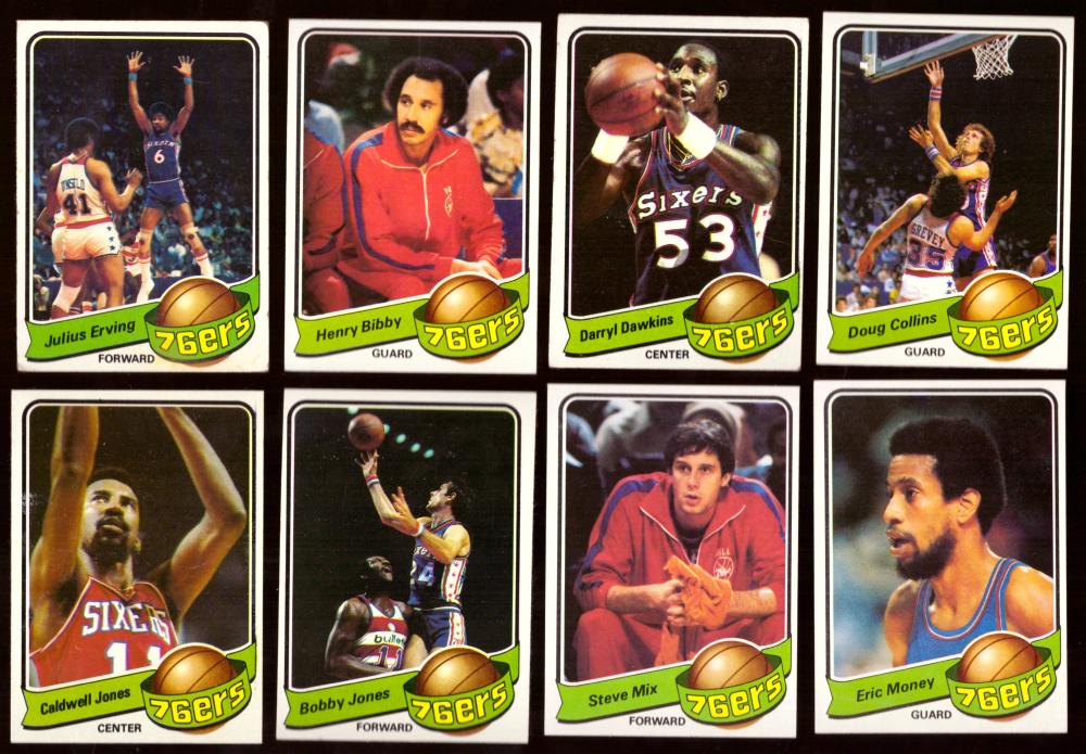 1979-80 Topps Basketball Team Set - Philadelphia 76ers * Erving poor
