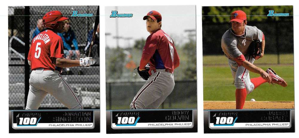 2011 Bowman Topps 100 - PHILADELPHIA PHILLIES Team Set