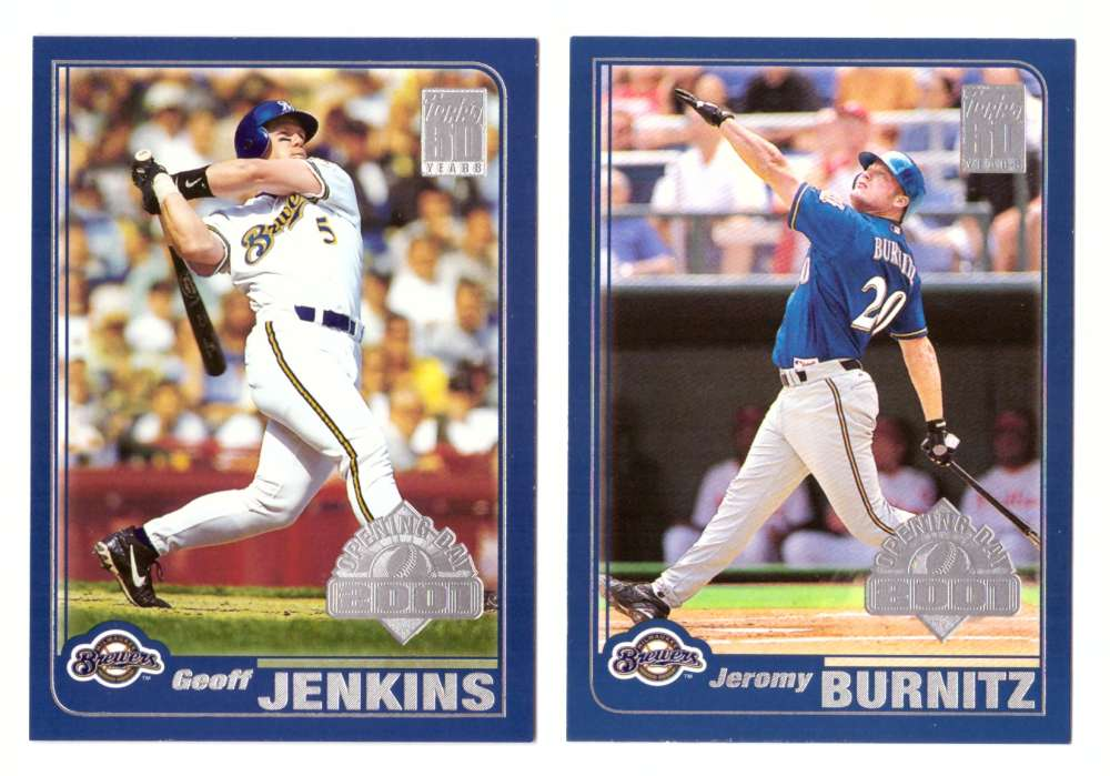 2001 Topps Opening Day - MILWAUKEE BREWERS Team Set