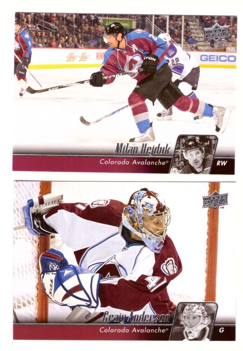 2010-11 Upper Deck (Base) Hockey Team Set - Colorado Avalanche