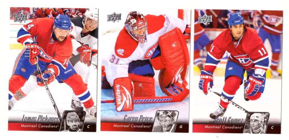 2010-11 Upper Deck (Base) Hockey Team Set - Montreal Canadiens