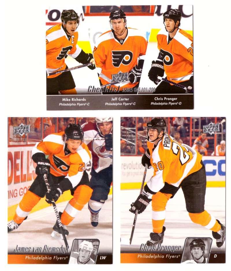 2010-11 Upper Deck (Base) Hockey Team Set - Philadelphia Flyers