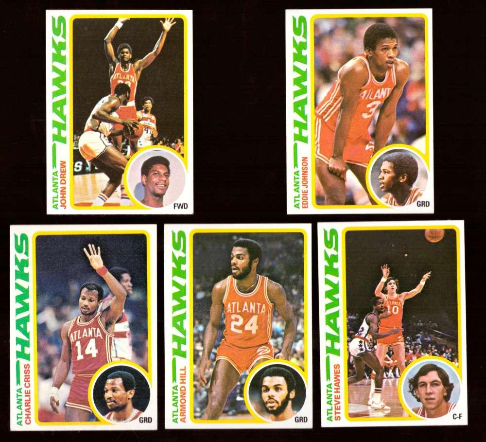 1978-79 Topps Basketball Team Set - Atlanta Hawks