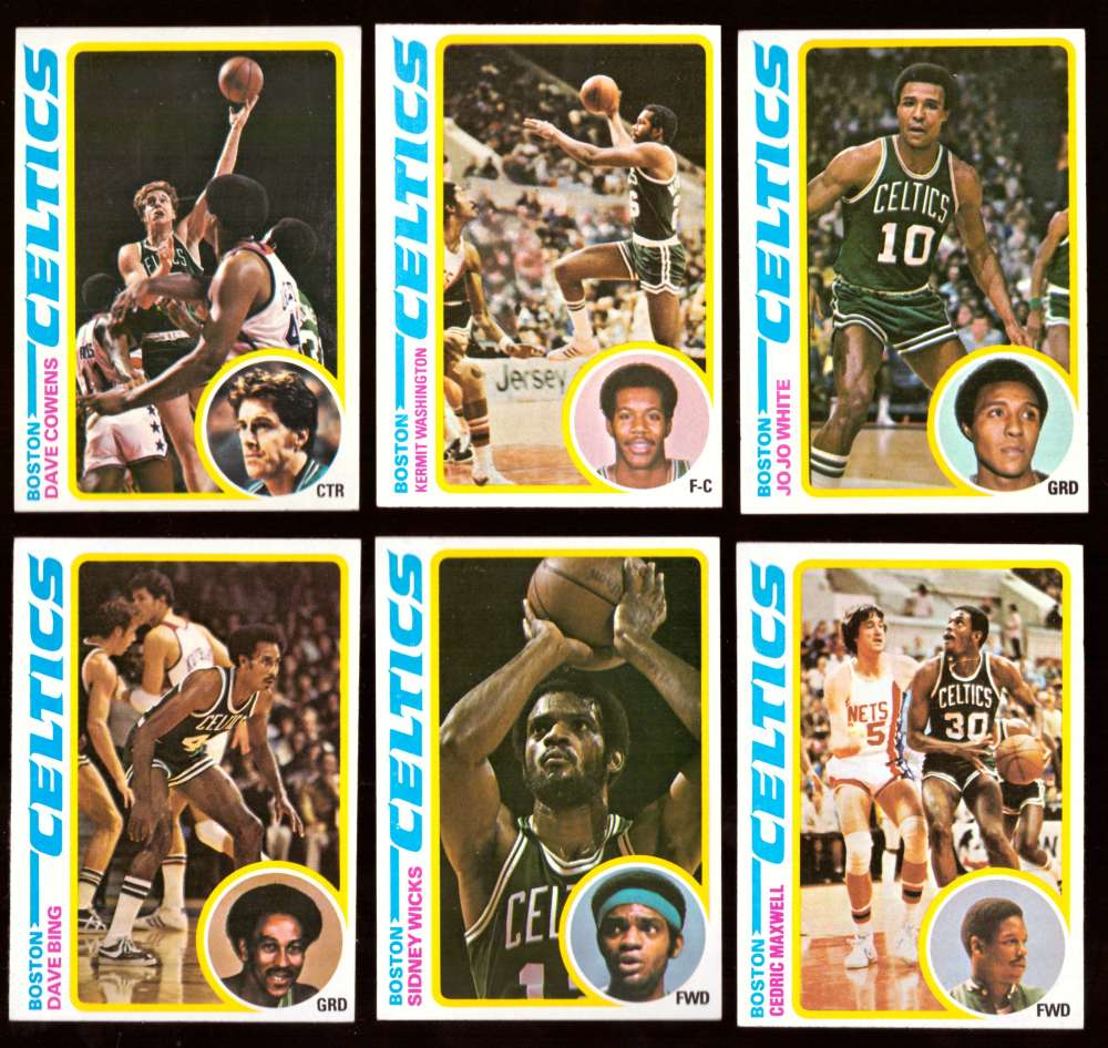1978-79 Topps Basketball Team Set - Boston Celtics