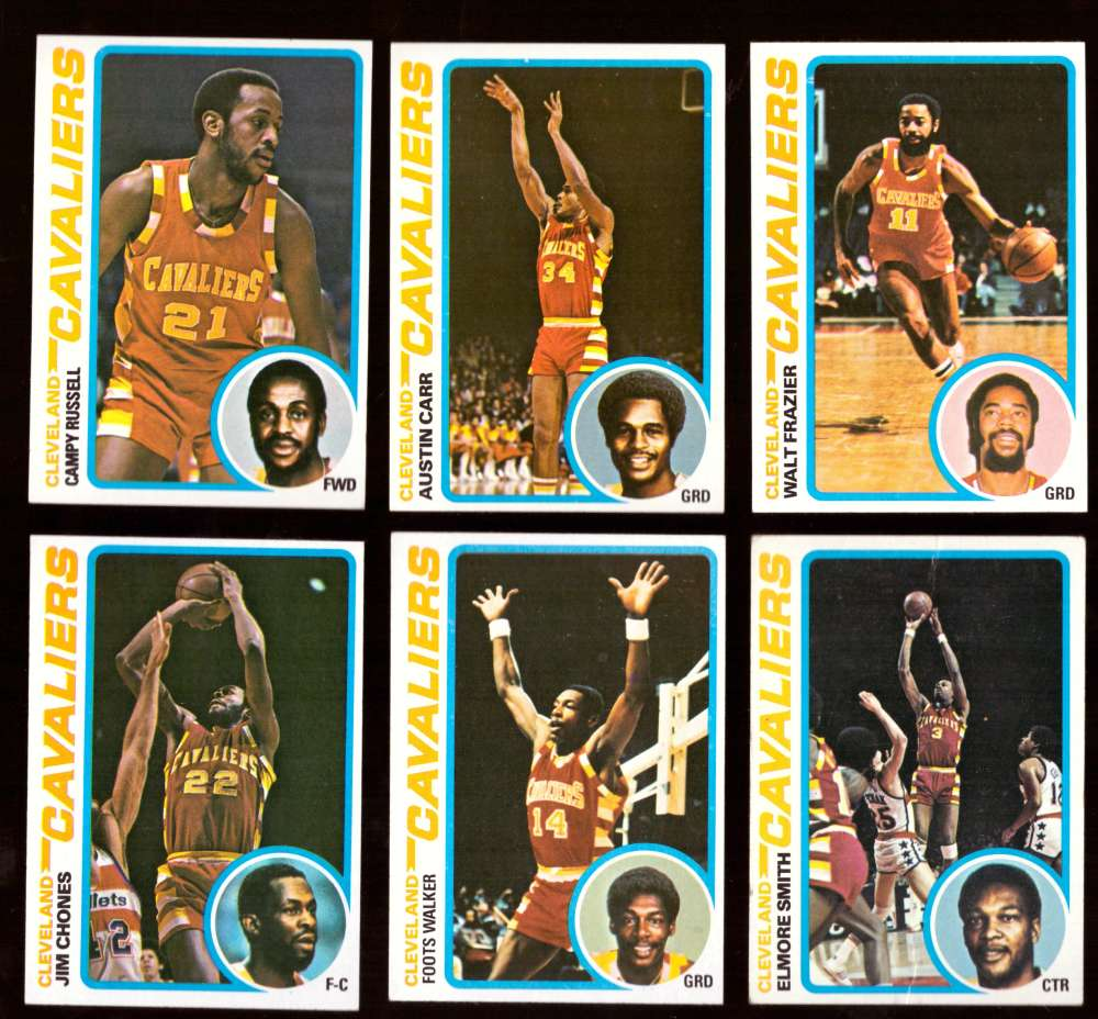 1978-79 Topps Basketball Team Set - Cleveland Cavaliers ** Read**