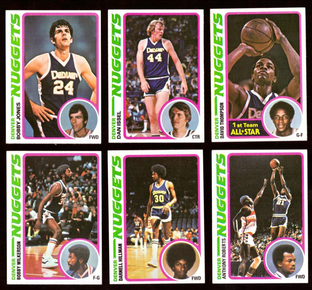 1978-79 Topps Basketball Team Set - Denver Nuggets