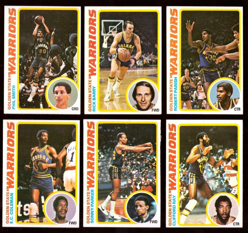 1978-79 Topps Basketball Team Set - Golden State Warriors