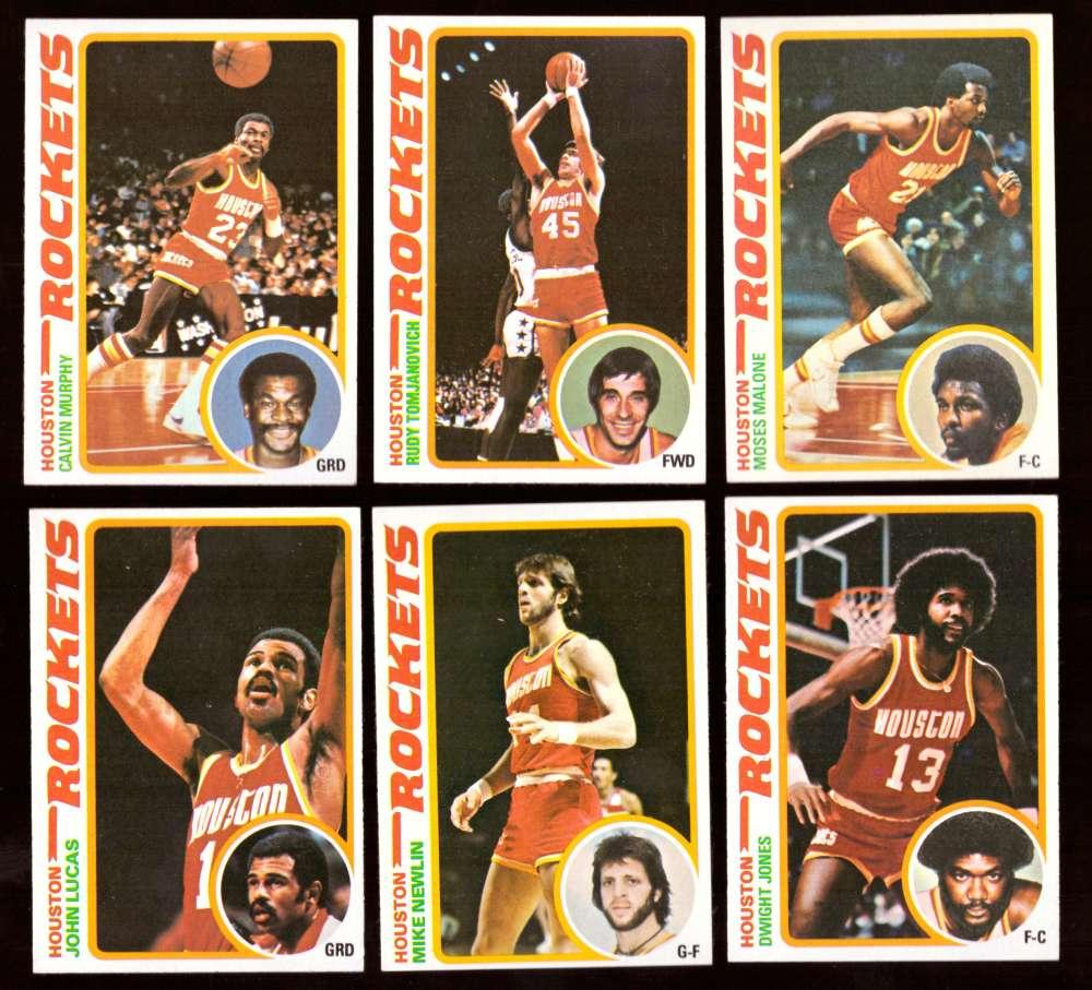 1978-79 Topps Basketball Team Set - Houston Rockets