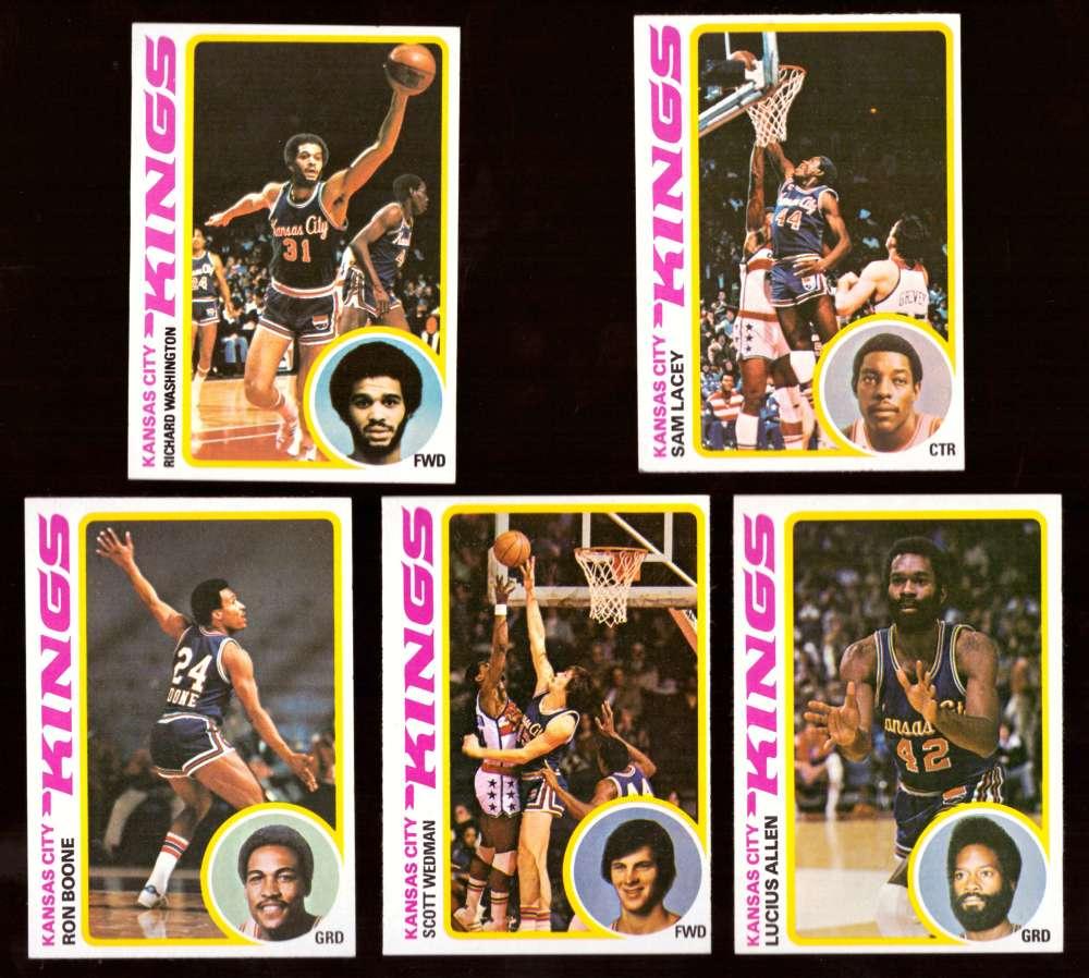 1978-79 Topps Basketball Team Set - KANSAS CITY KINGS