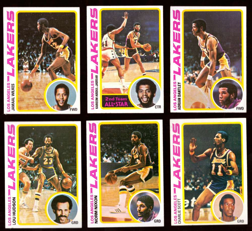 1978-79 Topps Basketball Team Set - Los Angeles Lakers