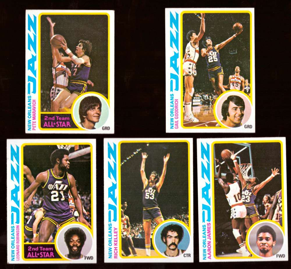 1978-79 Topps Basketball Team Set - New Orleans Jazz
