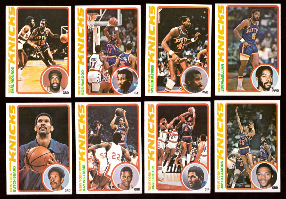 1978-79 Topps Basketball Team Set - New York Knicks