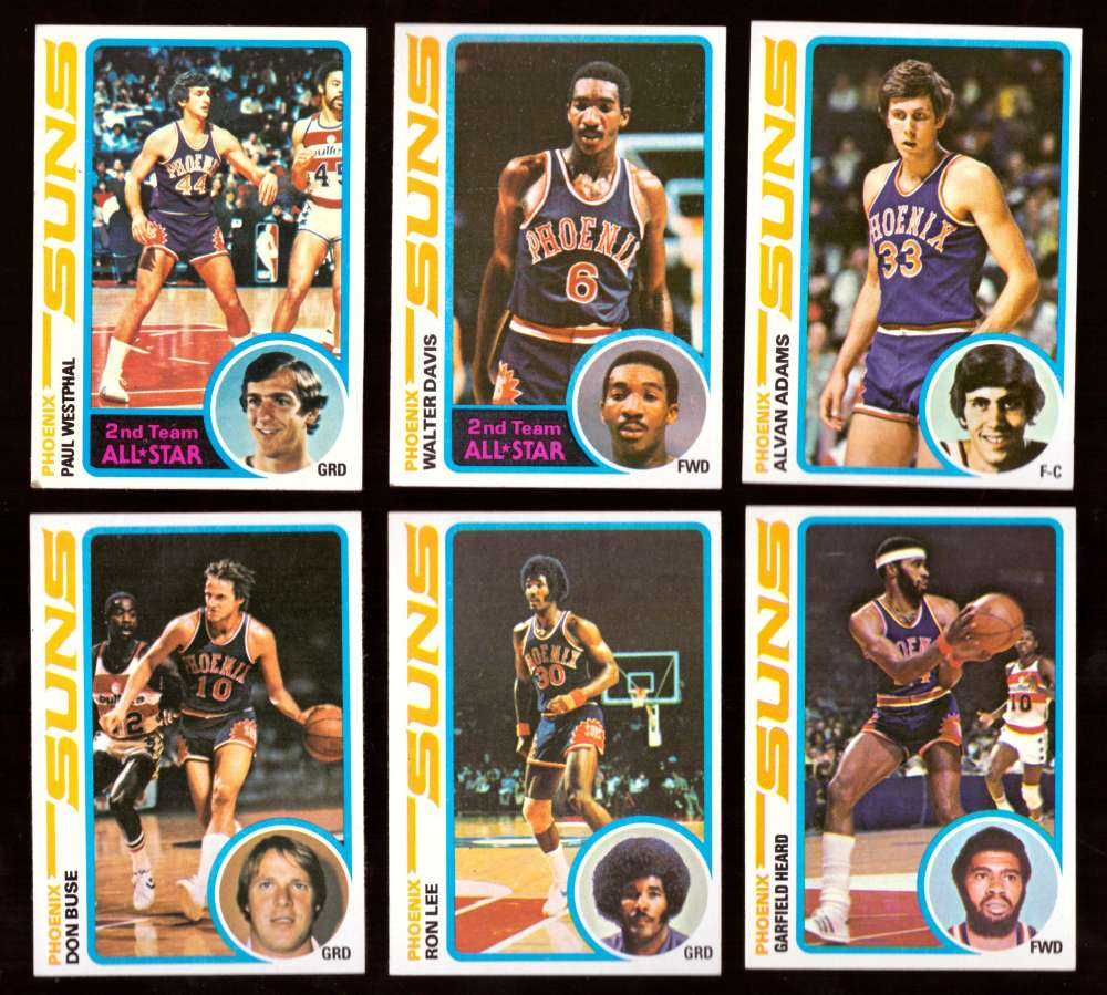 1978-79 Topps Basketball Team Set - Phoenix Suns