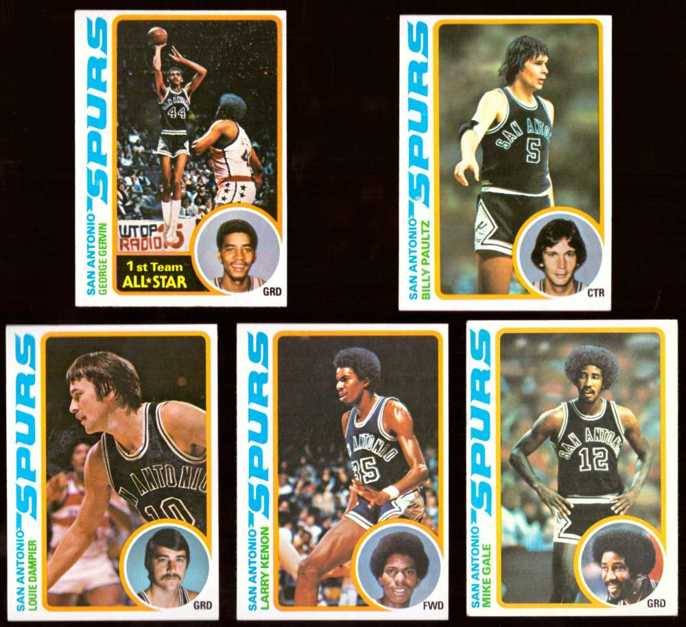 1978-79 Topps Basketball Team Set - San Antonio Spurs