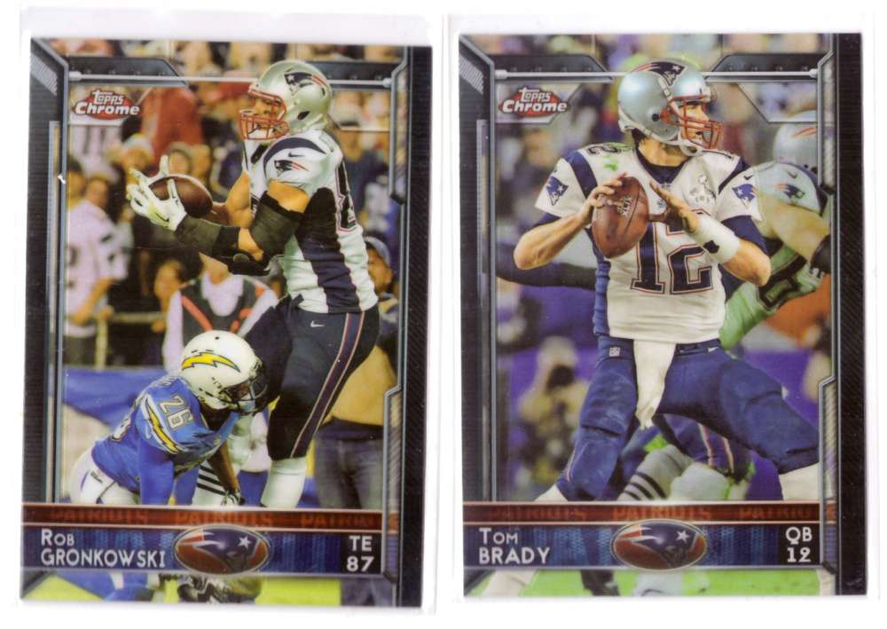 2015 Topps Chrome Football Team Set - NEW ENGLAND PATRIOTS