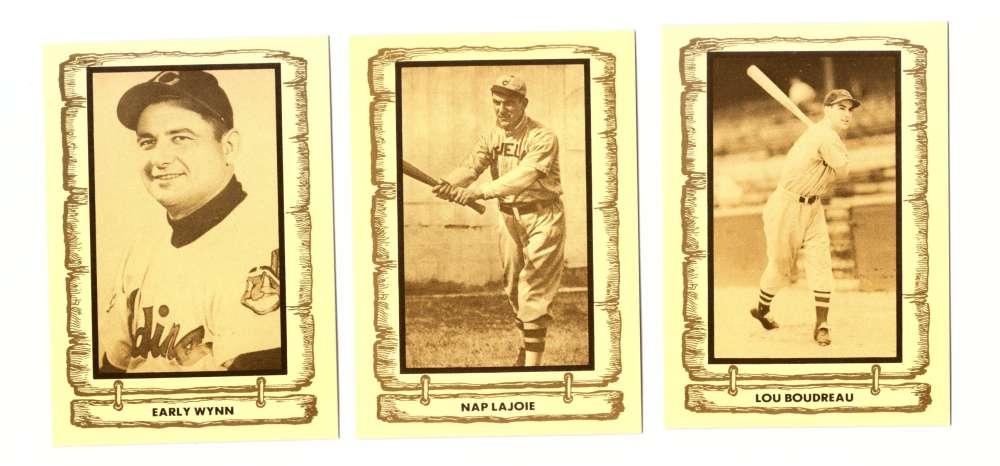 1982 Cramer Baseball Legends - CLEVELAND INDIANS Team Set