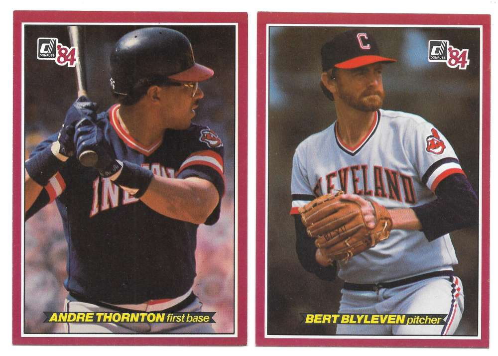 1984 Donruss Action All-Stars (3x5) - CLEVELAND INDIANS Team Set
