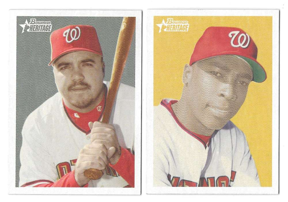 2006 Bowman Heritage  WASHINGTON NATIONALS Team Set