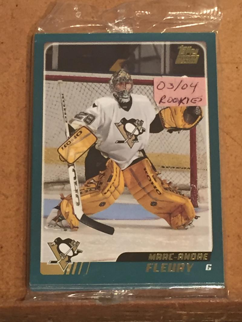 2003-04 Topps Hockey Rookie Redemption 10 card set w/ Marc-Andre Fleury (Factory Sealed)