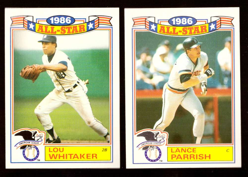 1987 Topps Glossy All-Stars - DETROIT TIGERS Team Set