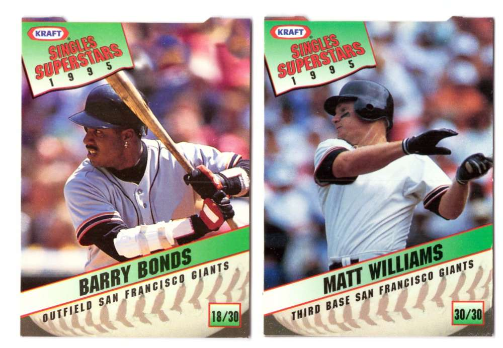 1995 Kraft - SAN FRANCISCO GIANTS Team Set