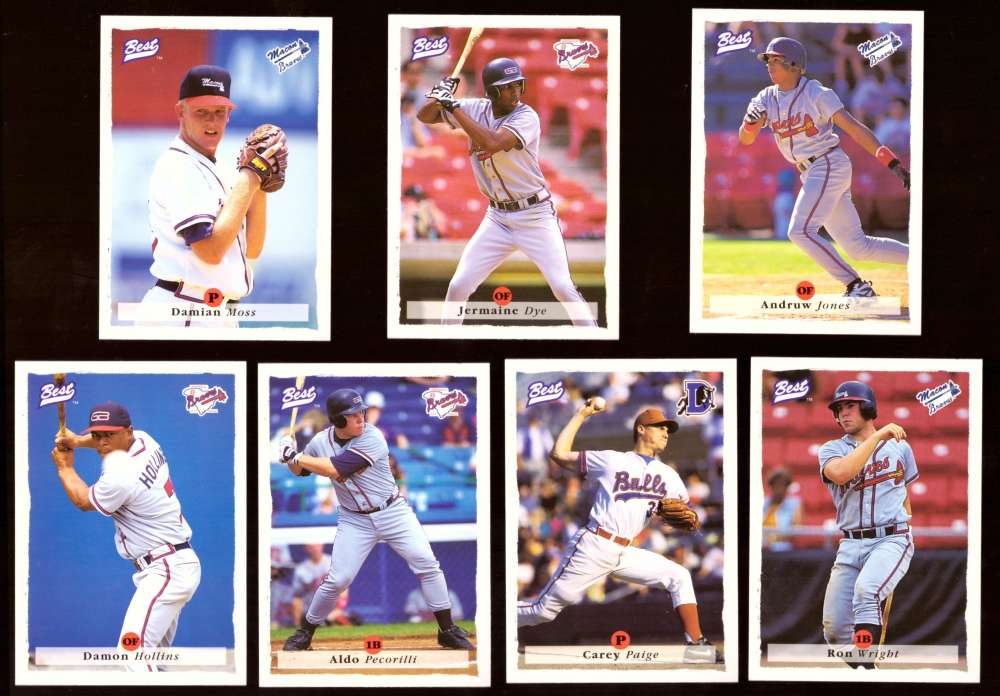 1995 Best Minors 1-100 - ATLANTA BRAVES Team Set