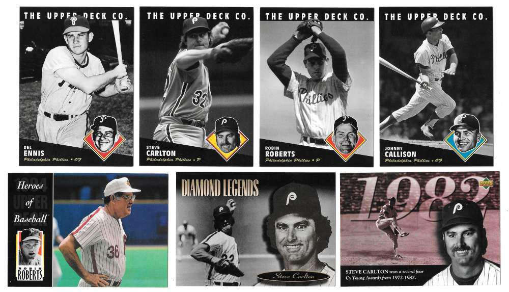 1994 Upper Deck All-Time Heroes - PHILADELPHIA PHILLIES Team Set