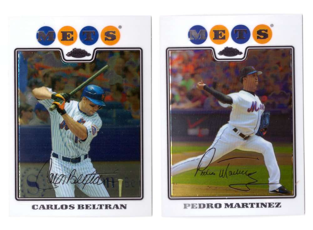 2008 Topps Chrome - NEW YORK METS Team Set