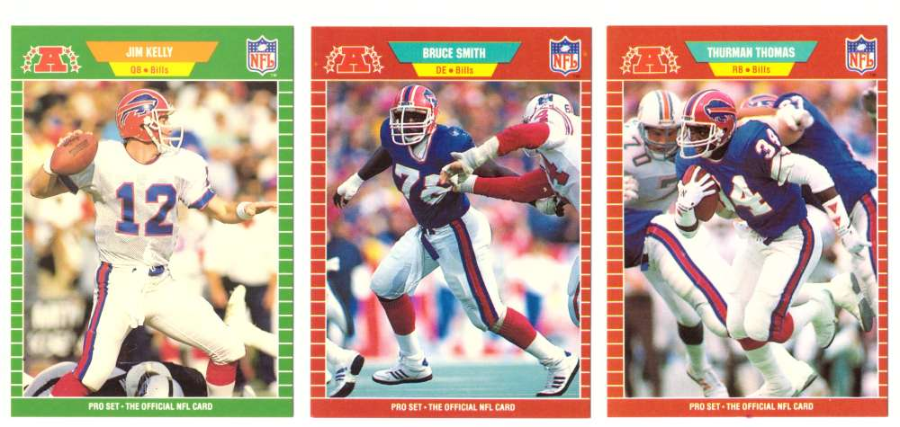 1989 Pro Set Football Team Set - BUFFALO BILLS