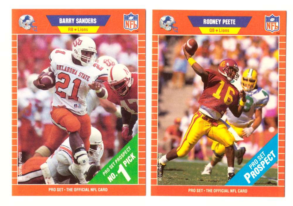 1989 Pro Set Football Team Set - DETROIT LIONS