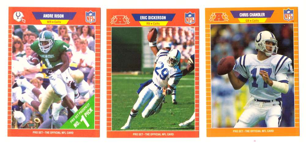 1989 Pro Set Football Team Set - INDIANAPOLIS COLTS