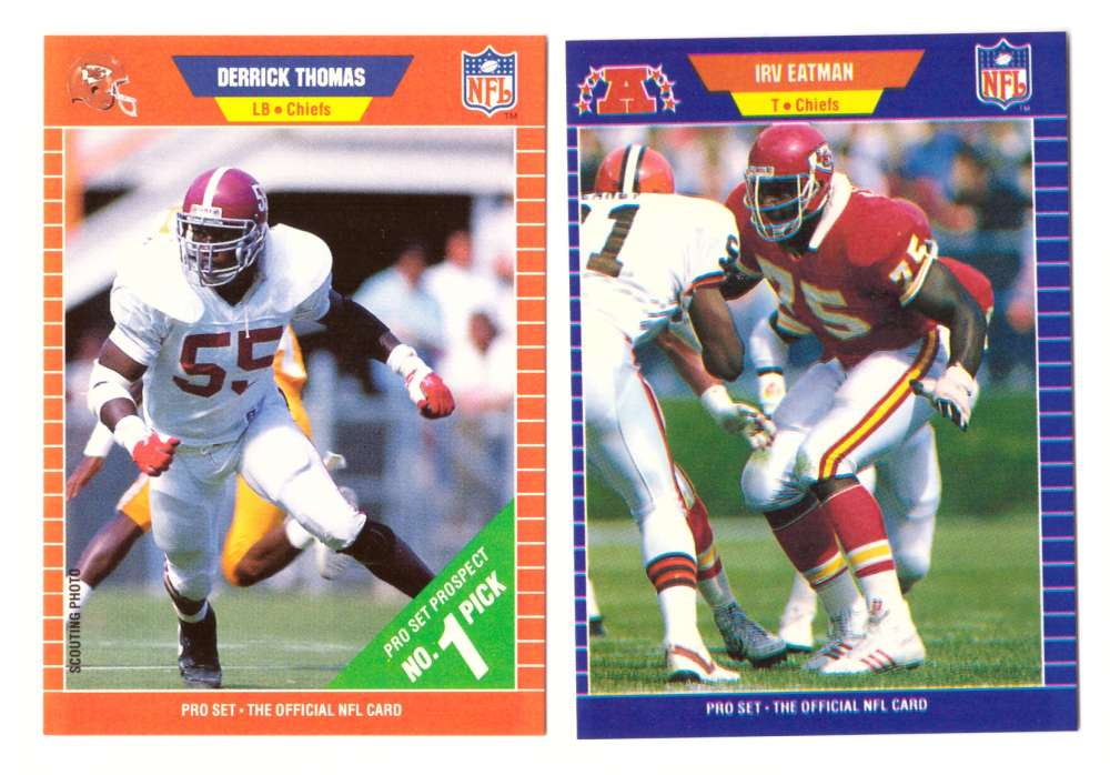 1989 Pro Set Football Team Set - KANSAS CITY CHIEFS